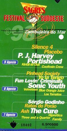 Festival Sudoeste   1998   bilhete