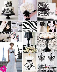 Paleta de cores: Branco e preto