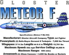 WARBIRDSHIRTS.COM presents 1950-Present T-Shirts, Polos, and Caps, Fighters, Bombers, Recon, Attack, 1950 - Present day. The Meteor F
