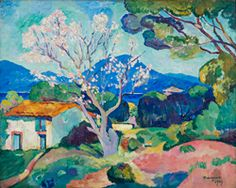 2007/2 Malmaison Mormoiron Henri Manguin, L'Amandier en fleurs, 1907, huile sur toile, 65 X 81 cm, Collection particulière © Adagp, Paris 2015