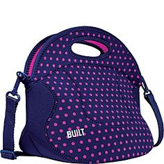 BUILT Spicy Relish Lunch Tote - Mini Dot Navy - via eBags.com!