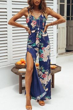Comaba Womens Mid-Waist Casual Shoulder Off Wrap Bohemian Romper Playsuit Jumpsuit