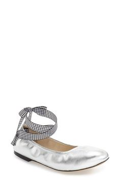 729c7c444 Free shipping and returns on Steve Madden 'Meow' Ribbon Tie Flat (Women)