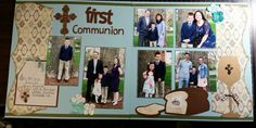 First communion Scrapbook layout, www.justkitting.citymax.com