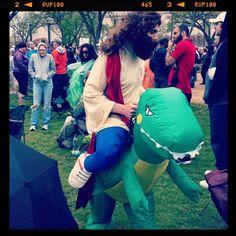 Yes...Jesus did ride dinosaurs.