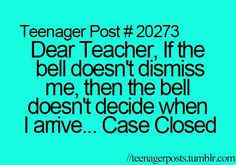Mrs. Niese…… Every day now 9th period!