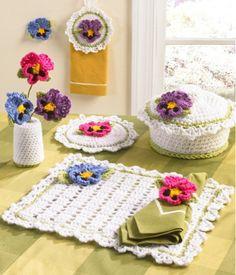 Maggie's Crochet · Pansy Kitchen Set Crochet Pattern
