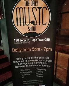 #TheDailyMusicShow: Using #music as the universal language to showcase #SouthAfrica's cultural #heritage as a learning and discovery experience for tourists and local music lovers alike.