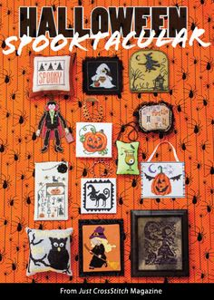 Halloween Spooktacular from the Sep/Oct 2015 issue of Just CrossStitch Magazine. Order a digital copy here: https://www.anniescatalog.com/detail.html?code=AM53361