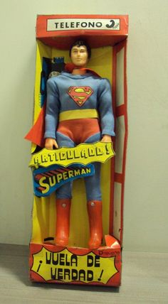 """1979 Vintage Flying Heroes Superman 12"""" with Box Mexico by Ensueño not Lili Ledy   eBay"""