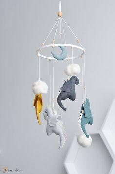 Baby Mobile for Dragon Age Baby Shower Gift, Dragon Mobile Bebe for Nursery - G. P - Baby Mobile for Dragon Age Baby Shower Gift, Dragon Mobile Bebe for Nursery Dragon Mobile Dragon Baby Mobile Dragon Nursery Decor -