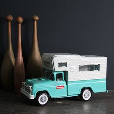 """The toy from my dad that started it all. Buddy L Camper Truck, Vintage toy. I think """"Buddy L"""" is a good name for my camper."""