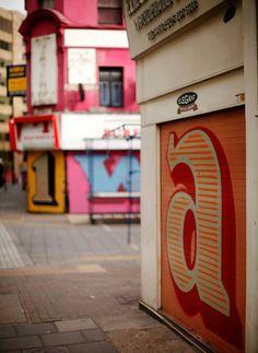 (2) Tumblr #type Shop Shutter, Typography Logo, Graphic Design Typography, Typography Letters, Painting Shutters, Text Fonts, London Street, East London, Letter Art