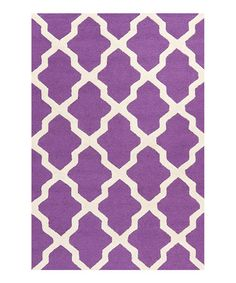 Take a look at this Purple & Ivory Cambridge Ava Rug by Safavieh Rugs on #zulily today!