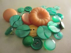 Vintage Buttons. The colors are beautiful!  #vintage #buttons