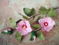 Rose Of Sharon | Hibiscus Syriacus From Twisted Paper - Craft Tutorial - YouTube