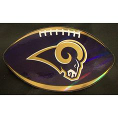 """NFL Los Angeles Rams Logo On Prismatic 4.25"""" Oval Paper Sticker #29"""