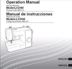 lx2500 sewing machine manual