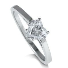 Sterling Silver Ring Heart Cubic Zirconia CZ Solitaire Ring 0.9ct - Nickel Free Engagement Ring, Valentine Gift BERRICLE. $35.99. Metal : Stamped 925. Gender : Women. Stone Type : Cubic Zirconia. Nickel Free and Hypoallergenic. Stone Total Weight (ct.tw) : 0.9