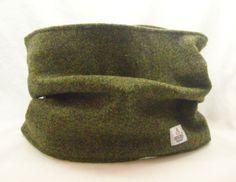 Forest green Harris Tweed cowl.  From Ebay http://www.ebay.co.uk/itm/-/121234155453