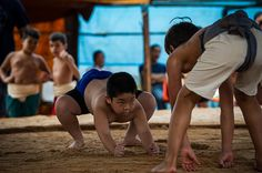Capao Bonito, Brazil: A boy waits for the starting signal during the under-18 Sumo wrestling tournament     Photograph: Yasuyoshi Chiba/AFP/Getty Images