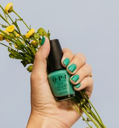 What do bright colors do for your mood? Bright colors us a jolt of energy, so we created #MyDogsledisaHybrid to make us feel energetic. #40YearsofColor #ColorIsTheAnswer #OPIObsessed #NOTD #NailsOfInstagram #GreenNails #GreenMani #SpringNails #SpringMani #NailInspo #ModernNails #StPatricksDayNails Green Nail Polish, Green Nails, Nail Polish Colors, Opi Gel Nails, Hot Nails, Interview Nails, Opi Red, Color Changing Nails, Long Lasting Nail Polish