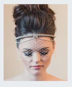 Demure Crystal Swagged Bridal Bandeau by KlaireVanEltonBridal, £190.00 GAAAH I LOVE THIS!
