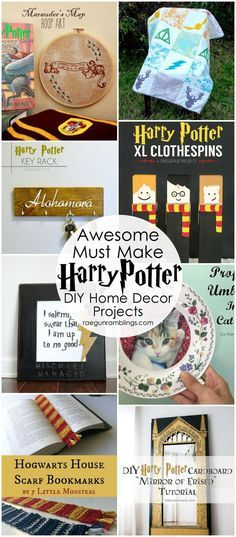 Great decorating ideas. DIY harry potter home decor projects and tutorials                                                                                                                                                                                 Más