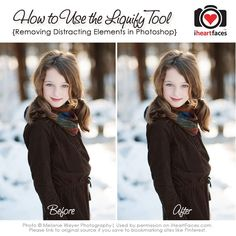 How to Use the Liquify Tool in PS...remove distracting elements in your photo!  Great to know!