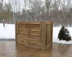 Rustic Tall Storage Reclaimed Barn Wood Cabinet w/Tin by Keeriah