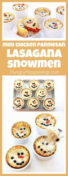 These cute Mini Chicken Parmesan Lasagna Snowmen will warm your heart and keep your belly full this winter. Each individual serving size meal will add a festive touch to your Christmas celebrations. Chicken casserole - on the biscuit topping Christmas Treats, Holiday Treats, Holiday Recipes, Christmas Brunch, Christmas Foods, Christmas Recipes, Xmas Food, Christmas Cooking, Christmas Lasagna