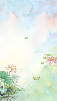 Flor Floral Aquarela Frame Background