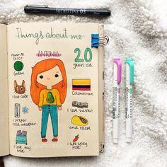 Bullet Journal Inspiration (For Your Best Year Yet) - brokoli Art Journal Pages, Art Journal Challenge, Art Journal Prompts, Art Journal Techniques, My Journal, Journal Ideas, Journals, Journal Entries, Bullet Journal 2020