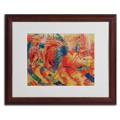 The City Rises 1911 by Umberto Boccioni Matted Framed Painting Print