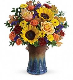 Teleflora's Country Sunflowers Bouquet - by Steve's Flowers and Gifts