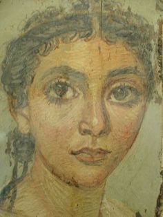 Our earliest painted representations of the human face are the remarkable Roman Mummy Portraits found at Hawara and other sites in the Fayoum region of Egypt. These striking portraits dating from t… Ancient Egypt History, Ancient Rome, Ancient Art, Egyptian Mummies, Egyptian Art, Female Portrait, Female Art, Woman Portrait, Renaissance Image