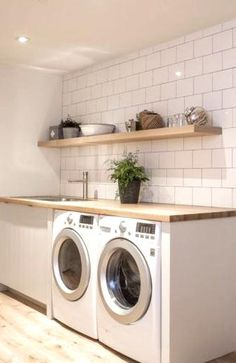Modern Laundry Rooms, Laundry Room Design, Laundry Room Cabinets, Small Laundry, Home Interior, Decoration, Sweet Home, New Homes, Room Decor
