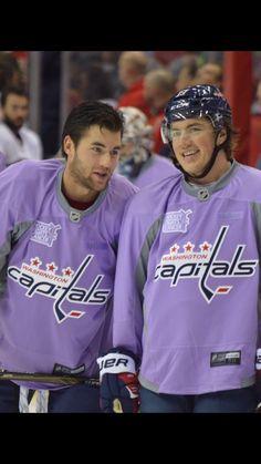 Wilson and Oshie bromance Hockey Baby, Field Hockey, Ice Hockey, Tom Wilson Capitals, Johnny Gaudreau, Caps Hockey, Washington Capitals Hockey, Hockey Boards, Hockey Quotes