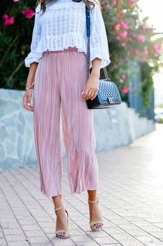 New outfit online :: Plissee Culottes & Steve Madden Heels