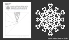 We have twelve free printable snowflake templates to fold and cut into beautiful paper snowflakes. Paper Snowflake Template, Paper Snowflake Patterns, Snowflake Cutouts, Heart Template, Paper Snowflakes, Snowflake Designs, Crown Template, Felt Patterns, Flower Template