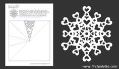 Paper snowflake template 10