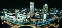 Panorama Centrum Warszawa Fotografia Nocna