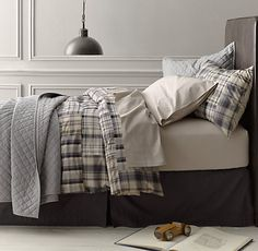 Washed Patchwork Plaid Bedding Collection | Restoration Hardware Baby & Child
