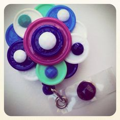 Flower Flip Top Retractable ID Badge Reel on Etsy, $14.50