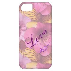 Love & Soft Flowers iPhone 5C Case by #MoonDreamsMusic #iPhone5cCase #LoveAndFlowers #ValentinesDay #CellPhoneCase