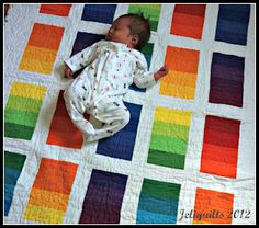 Love this rainbow baby quilt!
