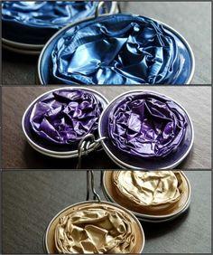 tolle metallic Farben für Ohrringe