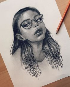 Image may contain: drawing Girl Drawing Sketches, Drawings, Earth Signs, I Still Love You, Black Pencil, Pose Reference, Taurus, Art Photography, Photo And Video