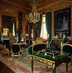 living room in French chateau of Jacques Garcia