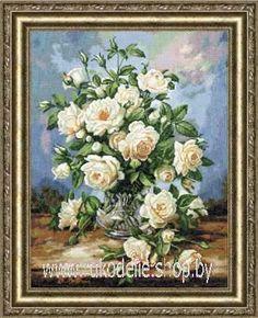 Английская роза вышивка